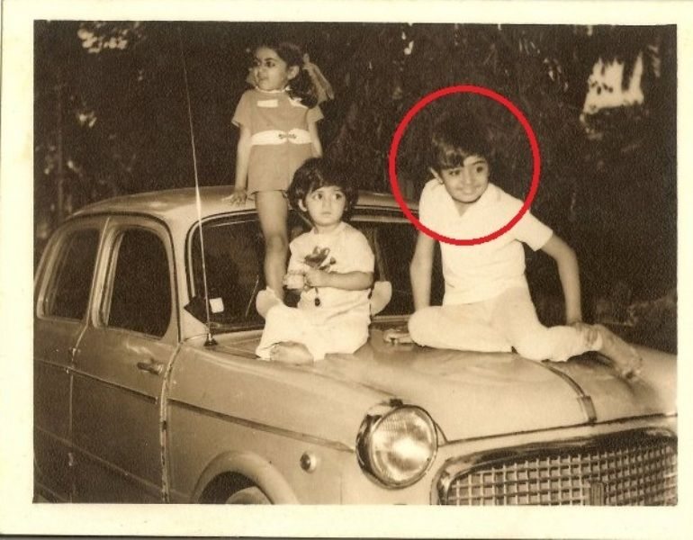 A childhood picture of Hansal Mehta