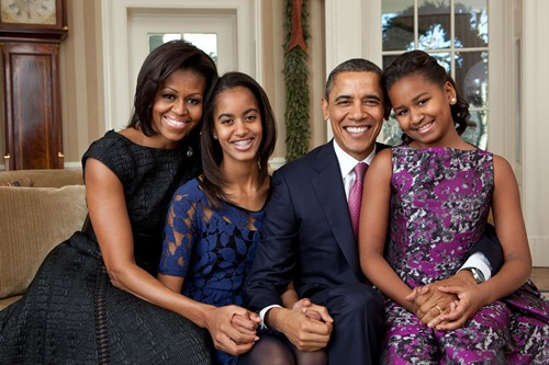 A photo of the Obama family