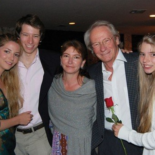 Anya Taylor (right) with her parents and siblings