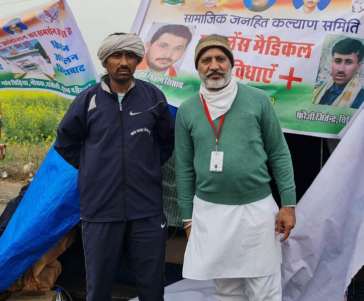 Baltej Pannu at Kisan Andolan (Farmers Protest)