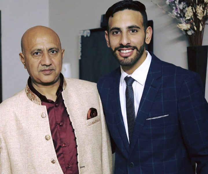 Baltej Pannu with his son