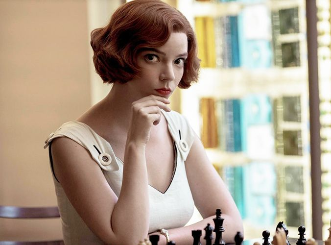 Beth Harmon (played by Anya Taylor-Joy) from The Queen's Gambit (2020)