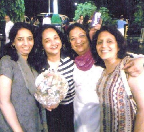 Bharati Achrekar with her sisters