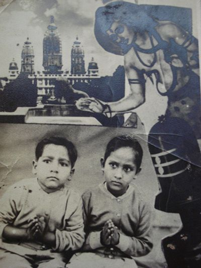 Childhood picture of Anoop Khanna and his sister