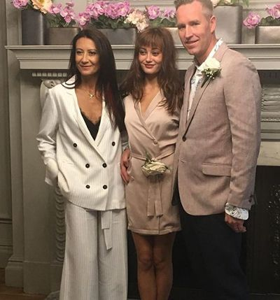 Ella Purnell with her mother and stepfather