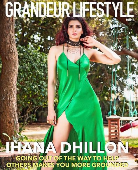 Ihana Dhillon on the cover of the Graneur Lifestyle magazine