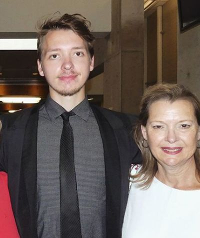 Jack Denmo with his mother