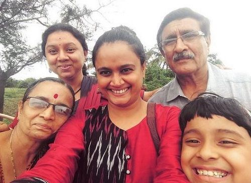 Kalyanee Mulay with her family