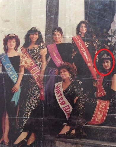 Malvika Sitlani's mother in a beauty pageant