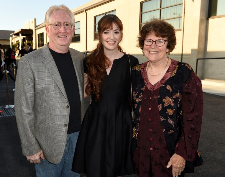 Marielle Heller with her parents