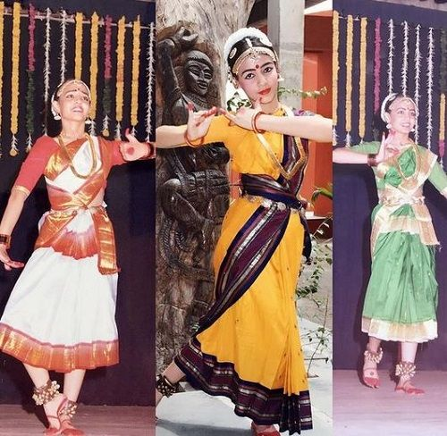 Nidhi Seth performing in a college function