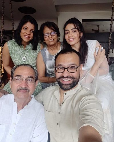 Nidhi Seth with her family