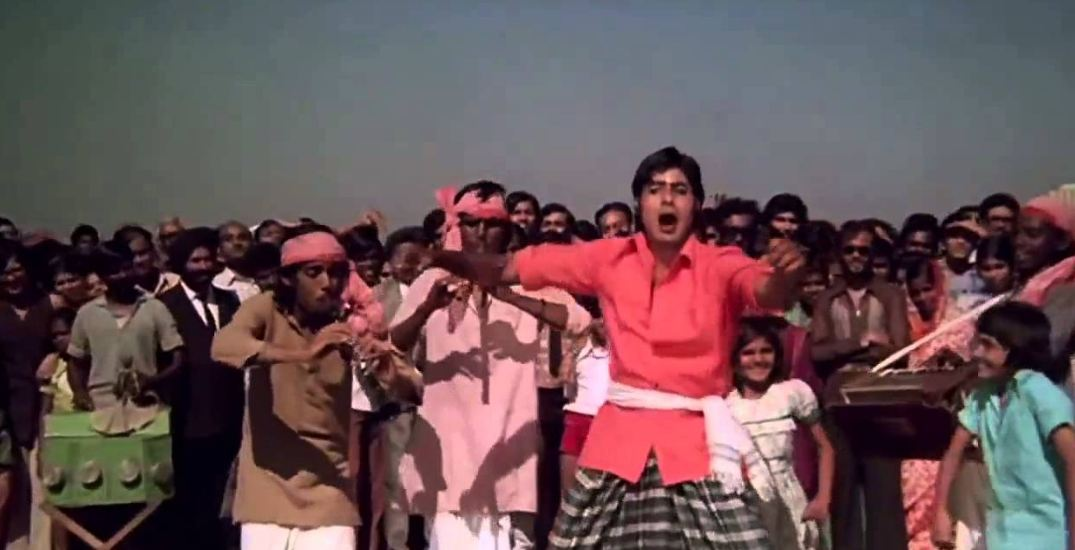 Pappu Khanna playing the flute in Don