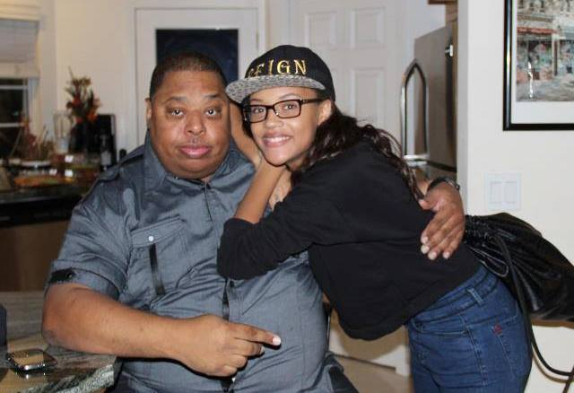 Reign Edwards with her father
