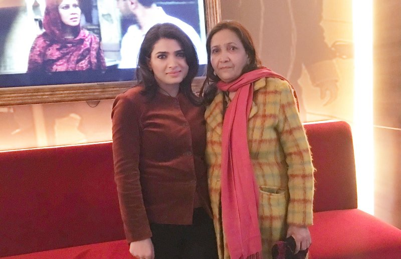 Shahla Nigar with her mother
