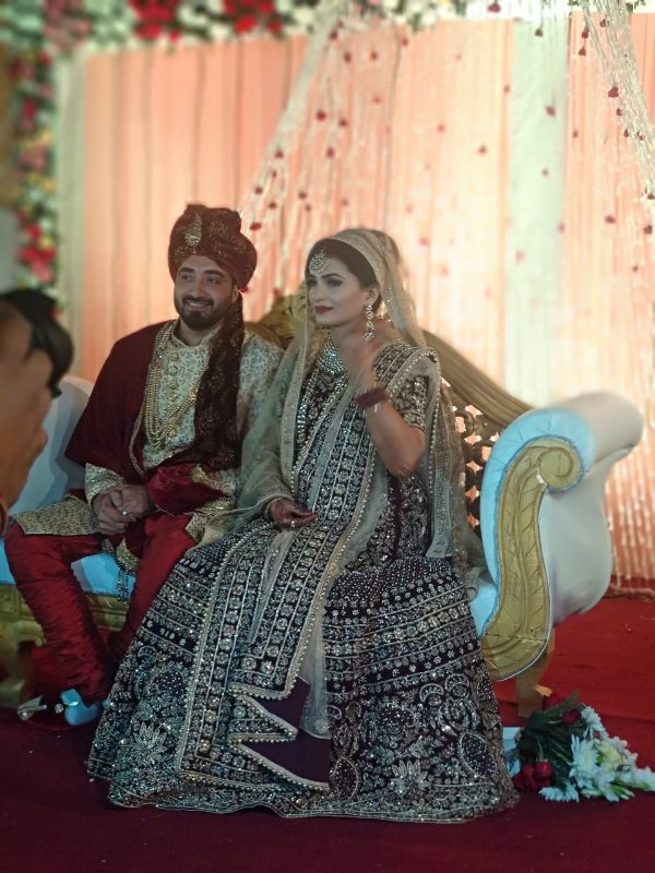 Shahla Nigar with her husband