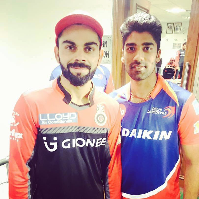 Shashank Singh with Indian skipper Virat Kohli