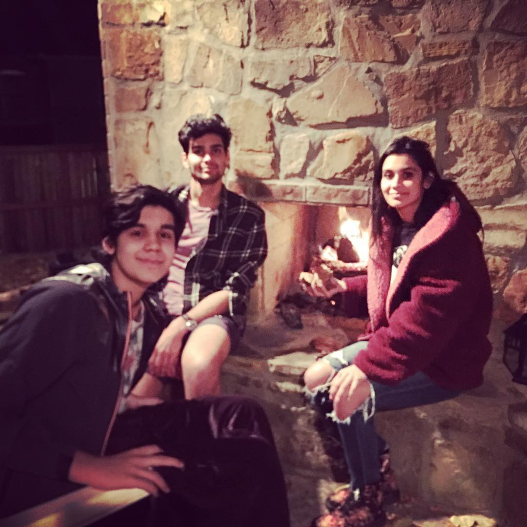 Sophia Ali with her brothers