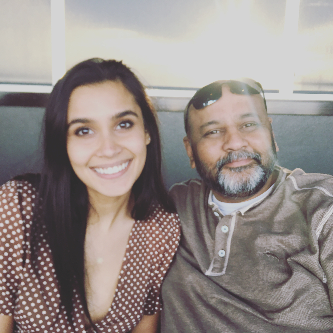 Sophia Ali with her father