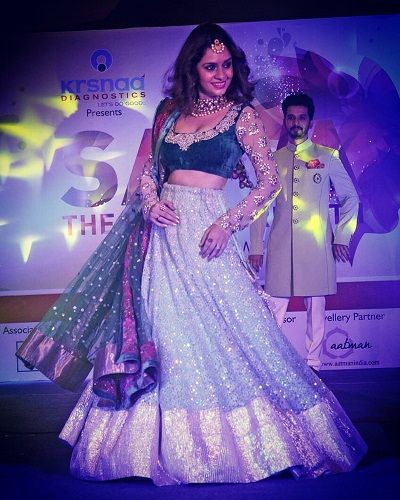 Sukhada Khandkekar in a fashion show