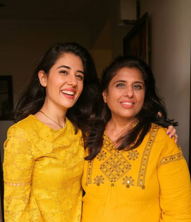 Tanya Khanijow with her mother