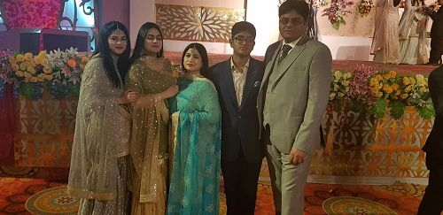 Tasneem Khan with her family