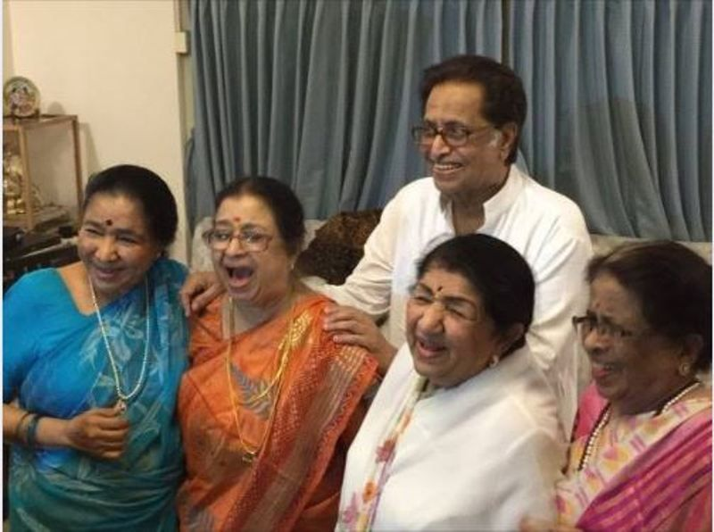 Usha with her siblings