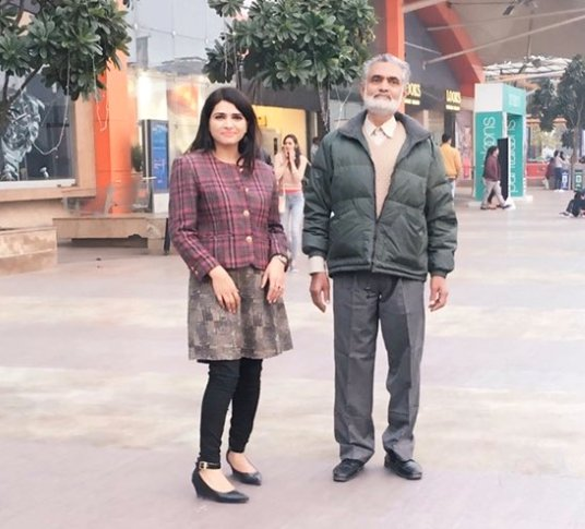 Shahla Nigar with her father