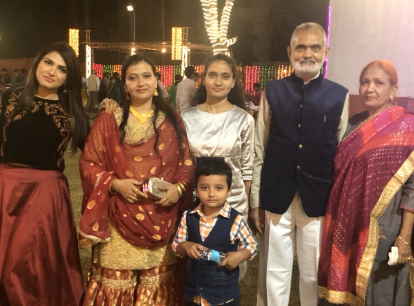 Shahla Nigar with her family
