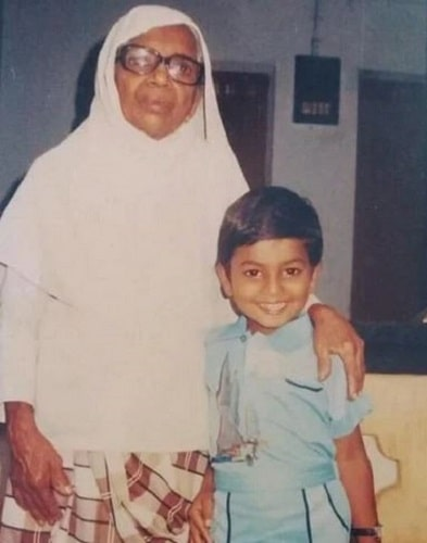 A childhood picture of Firoz Azeez