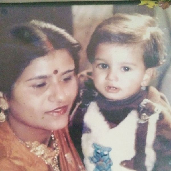 A childhood picture of Rajat Chauhan