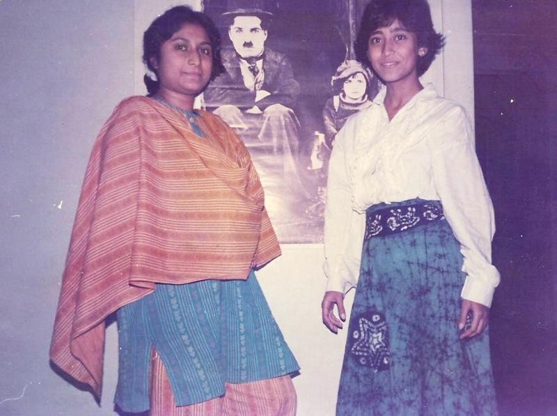 A picture of Nayana Dasgupta (in white top) from 1987
