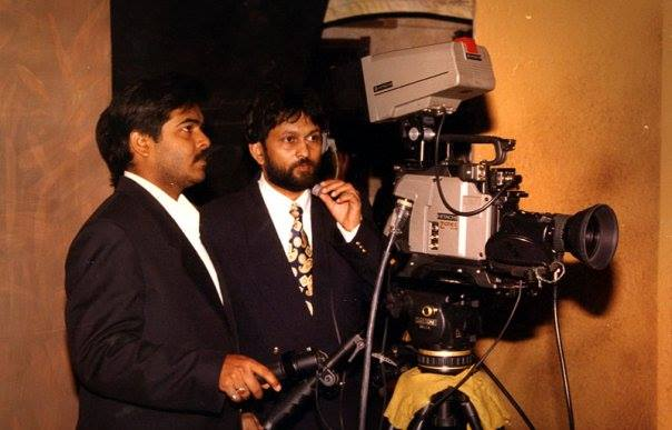 A snapshot from the days when Ajit Anjum (in the right) was making documentaries for BAG films