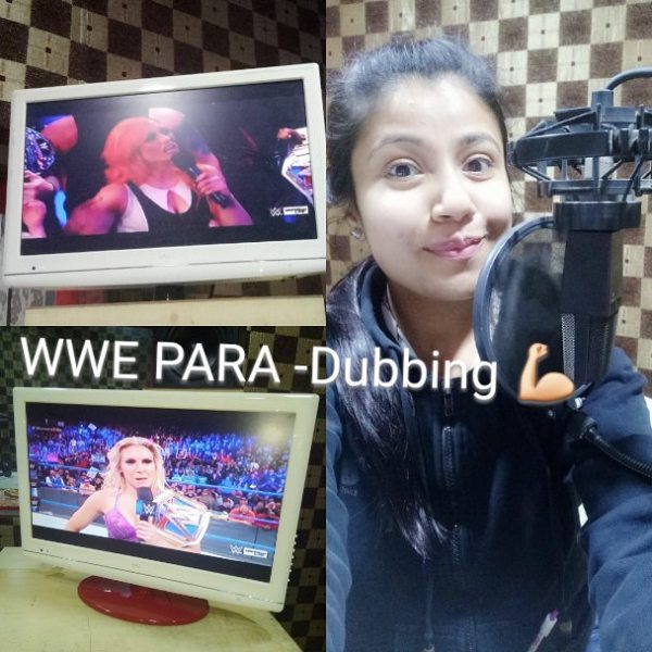 Akanksha Sharma dubbing for the show WWE