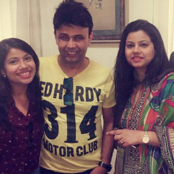 Akanksha Sharma with RJ Naved