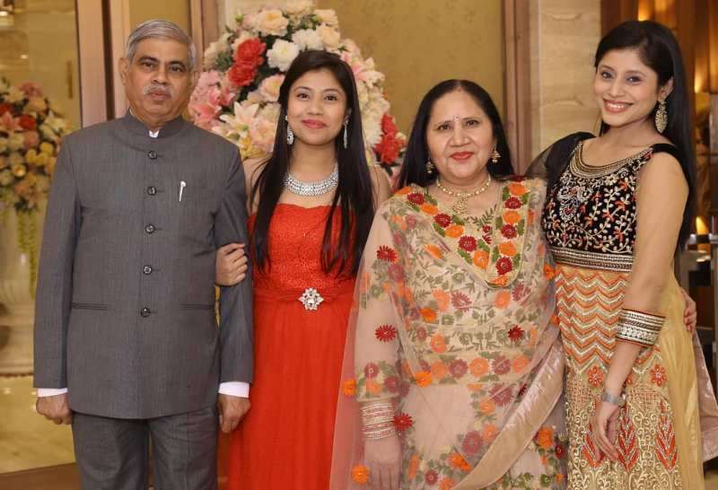 Akanksha Sharma with her family