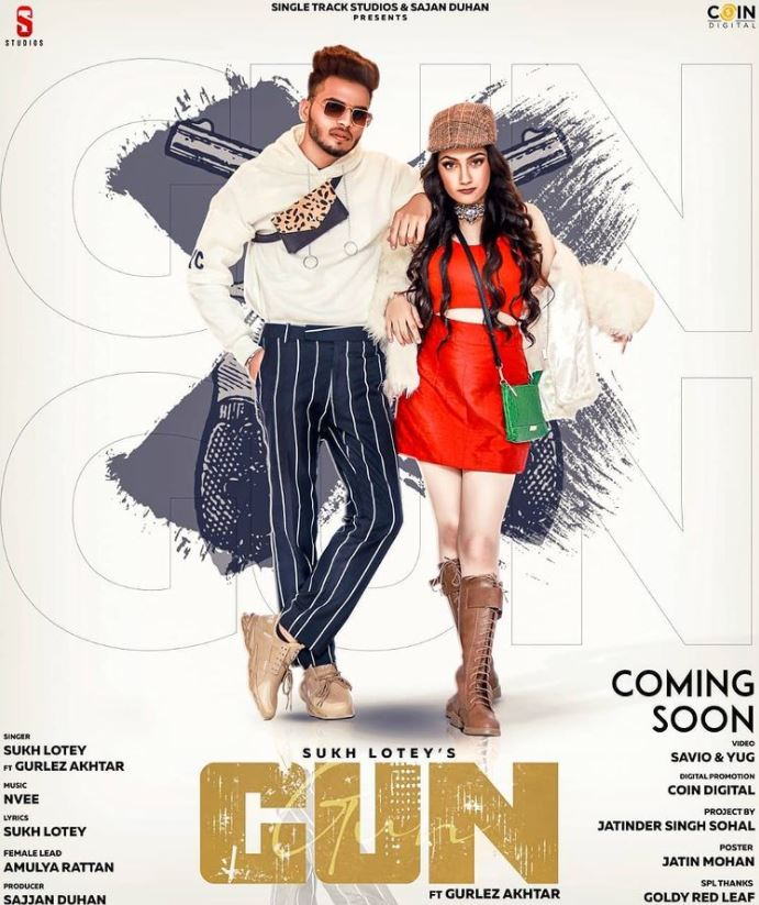 Amulya Rattan on the cover of the song Gun