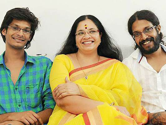 Bhagyalakshmi with her sons