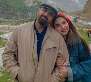 Dananeer Mobeen with her father