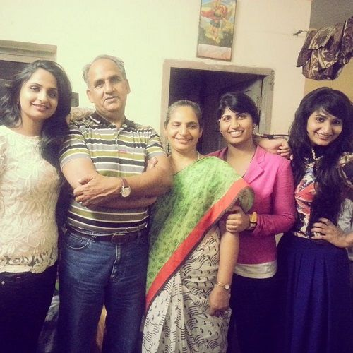 Dimpal Bahl with her family