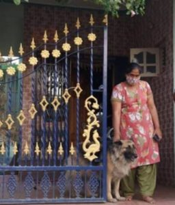 Disha Ravi's mother at her home