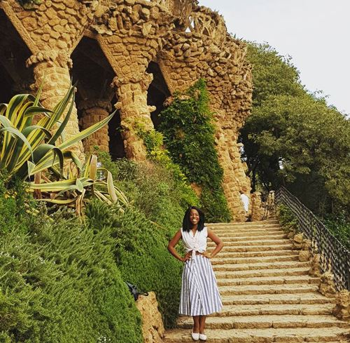 Gabrielle Brooks in Barcelona for a vacation