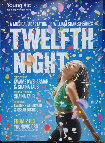 Gabrielle Brooks on the poster of the play 'Twelfth Night'