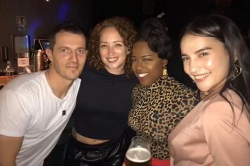 Gabrielle Brooks with the cast of 'Shadow and Bone'
