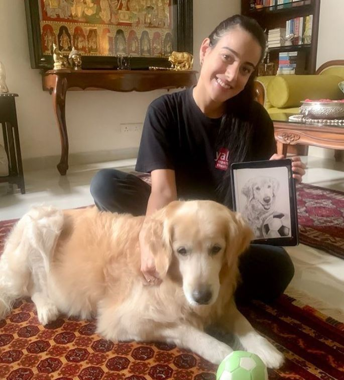 Ipsitaa Khullar with her pet dog
