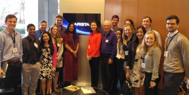 Jayshree Ullal at Arista Networks with her team