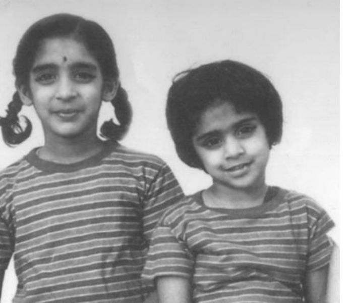 Jayshree Ullal childhood image with her sister