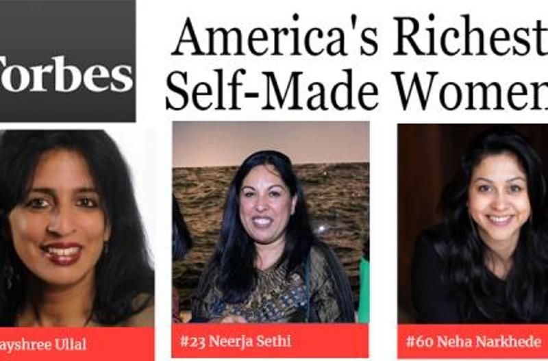 Jayshree Ullal on the Forbes list of America's richest self made women