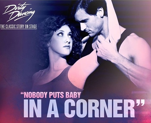 Jillian Mueller on the poster of the broadway show Dirty Dancing