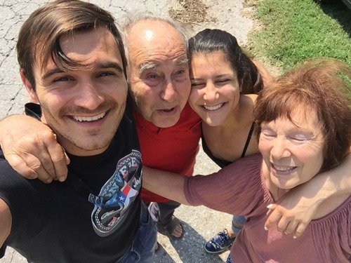 Julian Kostov with his parents and younger sister Lia Kostov
